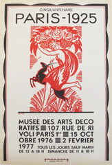 1976 french art deco exhibition poster cinquantenaire paris 1925