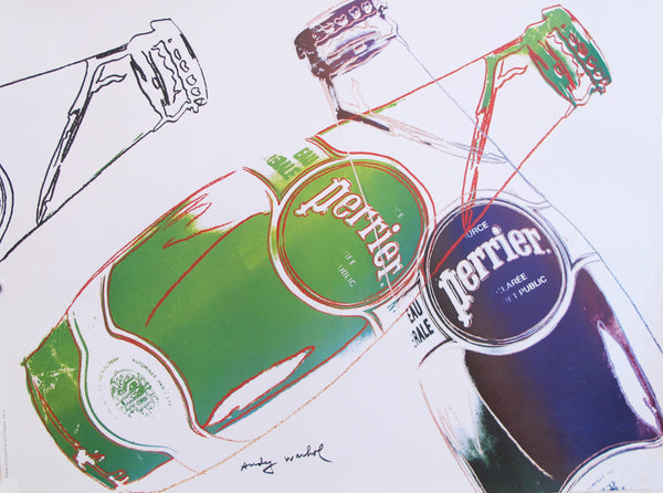 1983 Original Andy Warhol Advertisement, Perrier (White)