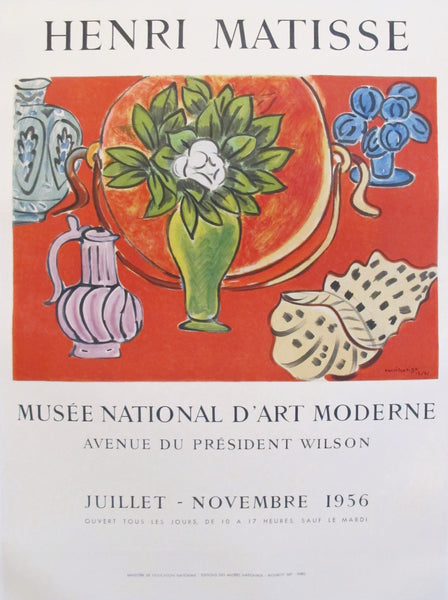 1956 Original Matisse Exhibition Poster, Musée National d'art moderne