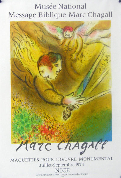 1974 Original French Poster - Message Biblique Maquette, Nice - Chagall