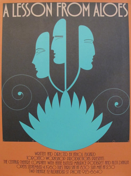 1980s Original Canadian Poster - A Lesson From Aloes by Theo Dimson