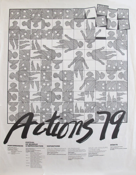 1970s Vintage Quebec Poster - Actions 79