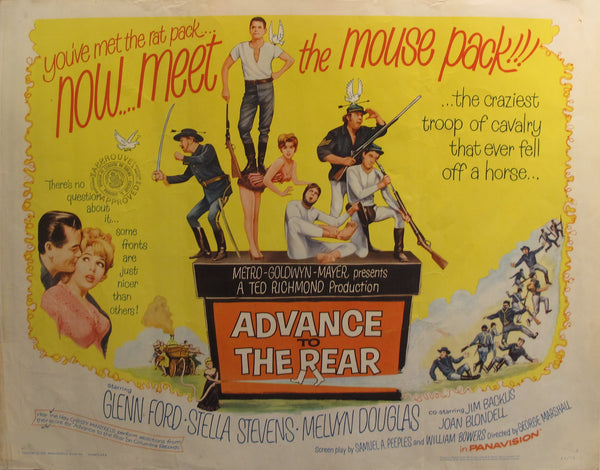 "1964 Original American Movie Poster - Advance to the Rear - ""You've met the rat pack... now meet the mouse pack!!"""