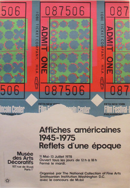 1978 Original Exhibition Poster, American Poster Retrospective in Paris - Warhol (After)