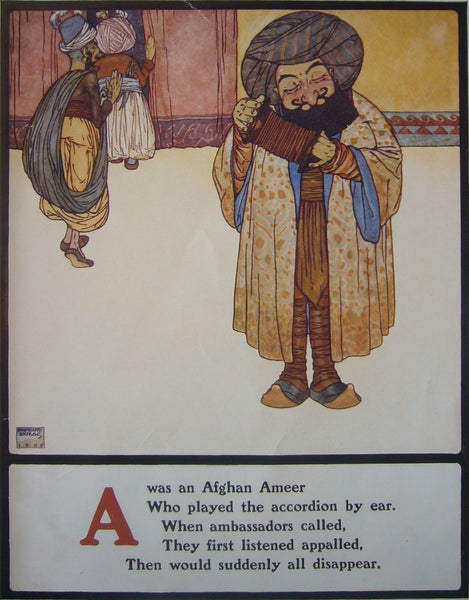 1908 British Children's Illustration, Afghan Ameer - Dulac