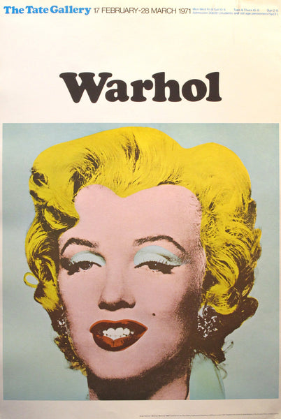 1971 Original Andy Warhol Exhibition Poster, Marilyn Monroe, Tate Gallery