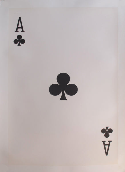 1967 Original Vintage Playing Card Poster - Ace of Clubs