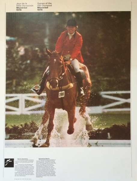 1976 Montreal Olympic Poster, Double-sided, Equestrian Sports/Athletics - COJO