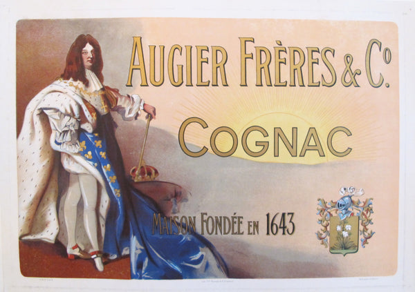 1900s French Vintage Cognac Poster - Augier Frères & Co