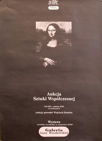 1980s Original Polish Contemporary Art Exhibition Poster, Galerie Anny Wesolowskiej
