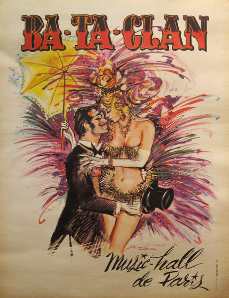1970s Vintage French Music Hall Poster, Ba Ta Clan