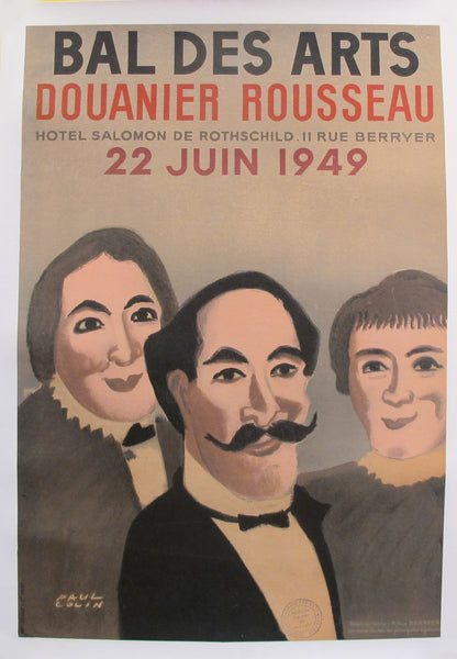 1949 Original French Art Deco Poster, Bar des Arts Douanier Rousseau