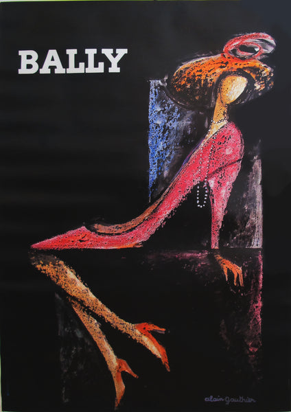 1970s Vintage French Fashion Poster - Women's Bally Shoes