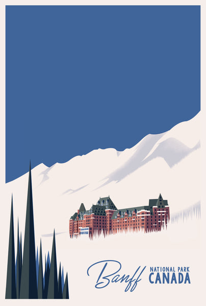 2019 Contemporary Travel Poster - Pascal Blanchet - Banff
