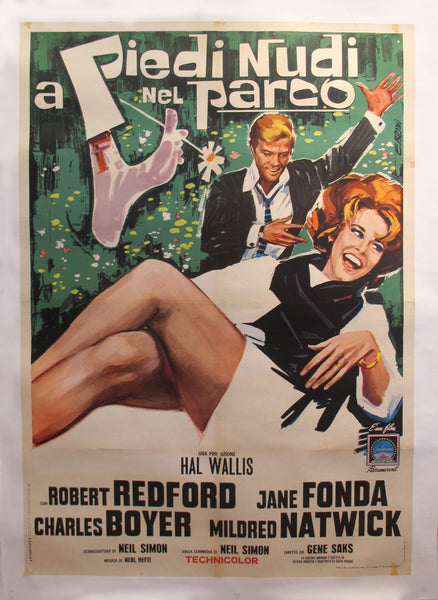 1964 Original American Movie Poster (Italian version) - Barefoot in the Park