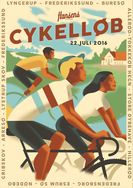 2016 Contemporary Danish Poster, Cykellob