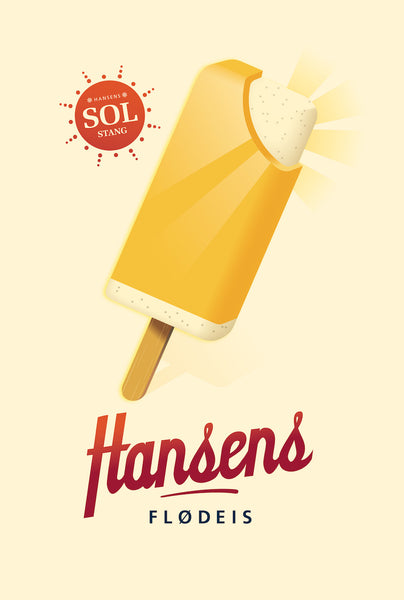 2014 Contemporary Danish Poster, Sol Stang Popsicle