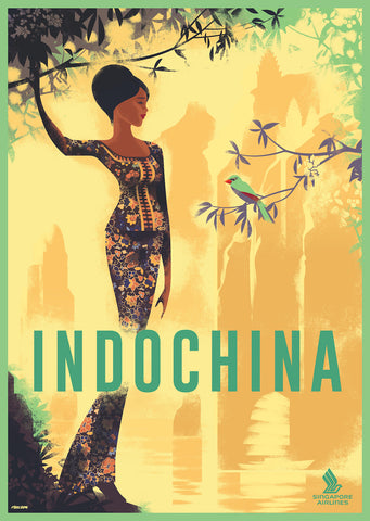 2014c. Contemporary Danish Poster, Indochina/Singapore Airlines