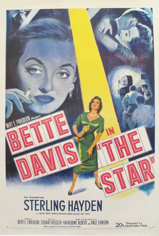 1952 American Movie Poster, Bette Davis in The Star