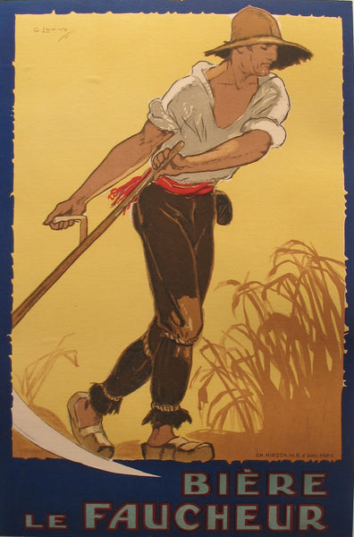 1900s Original French Beer Poster, Biere le Faucheur - Unknown