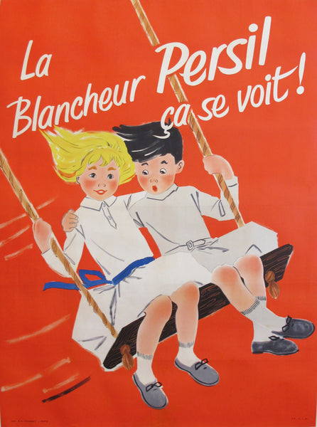 1957 Original French Poster, Blancheur Persil Ça Se Voit