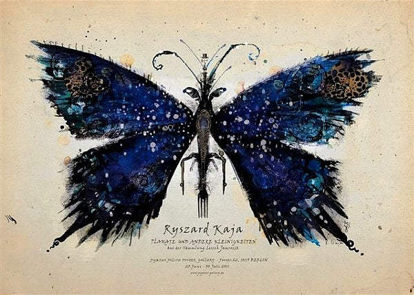 2011 Original Polish Exhibition Poster, Blue Butterfly