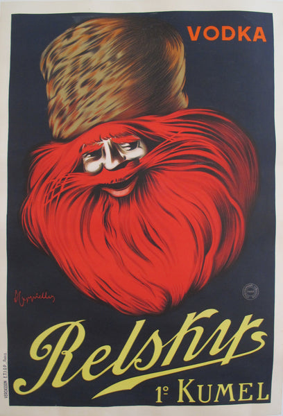 1911 French Alcohol Poster, Relsky Vodka