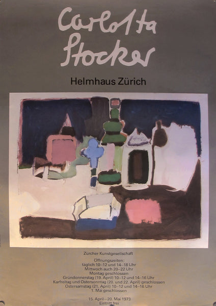 1973 Original Swiss Exhibition Poster, Carlotta Stocker