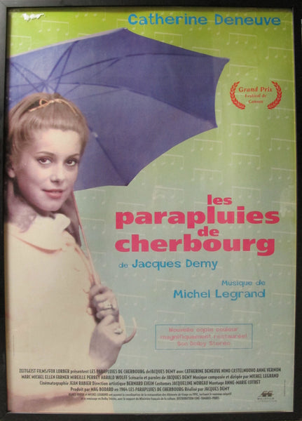 1960s Original French/German Movie Poster, Les Parapluies de Cherbourg/Umbrellas of Cherbourg, starring Catherine Deneuve