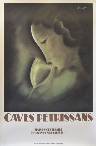 1997 French Advertising Poster - Caves Petrissans, Maison Centennaire - by Charles Loupot