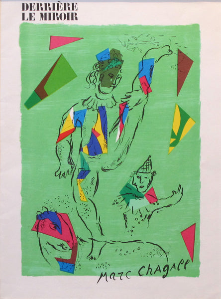 1979 Original Chagall - L'Acrobat Vert for the cover of 'Derrière le miroir #235'
