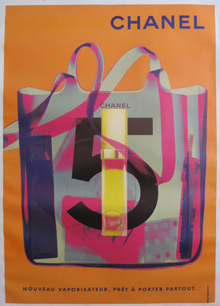 1998 Original Chanel No. 5 Poster (Orange)