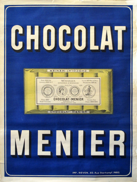 1900 Original Vintage French Poster, Chocolate Menier