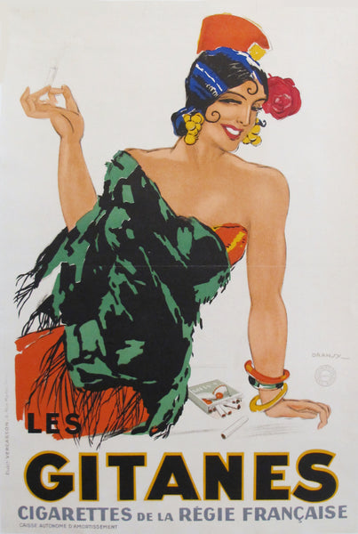 1931 French Art Deco Poster, Gitanes Cigarettes