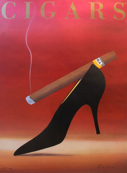 1998 French Contemporary Poster, Cigars