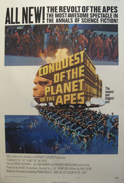1972 Contemporary Movie Poster, Conquest of the Planet of the Apes