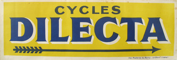 1930s Original Vintage French Bicycle Poster, Cycles Dilecta