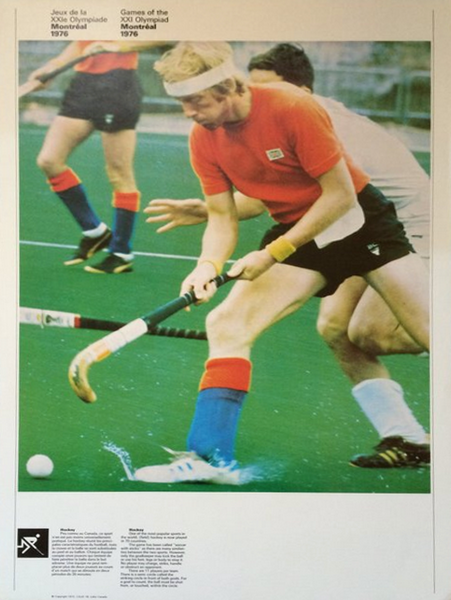 1976 Montreal Olympic Poster, Double-sided, Field Hockey/Cycling - COJO