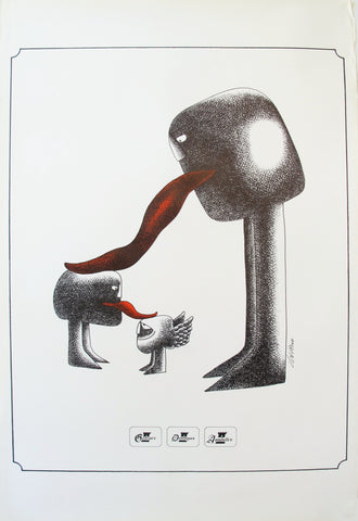 1970s Original Quebec Poster, George's/Dominique's/Annabelle's