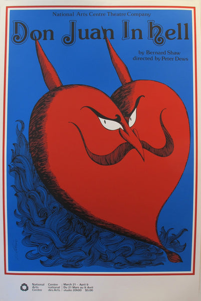 1977 Canadian Theatre Poster, Don Juan in Hell, National Arts Centre