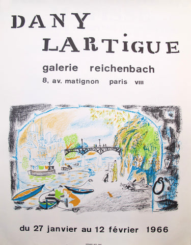 1966 Original French Exhibition Poster, Galerie Reichenbach