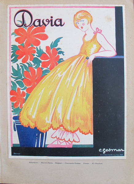 1920s French Art Deco Tip-On, Davia
