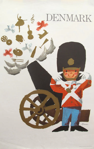 1960s Original Danish Travel Poster, Denmark Royal Guard (small)