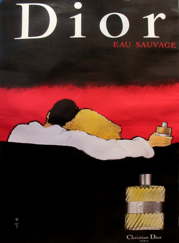 1979 Vintage Dior Perfume Advertisement, Eau Sauvage (couple)