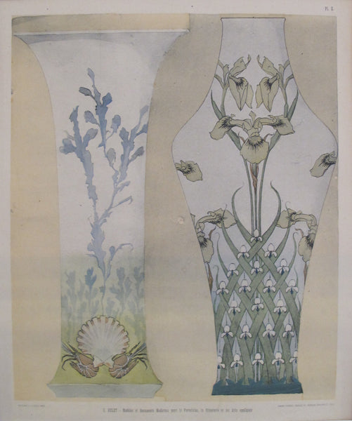 1901 Document du Decorateur, Art Nouveau Design Sheet #2