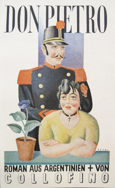 1927 Vintage German Mini Poster, Don Pietro