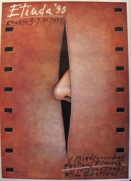 1998 Original Polish Poster, Etiuda International Film Festival - Mieczysław Górowski