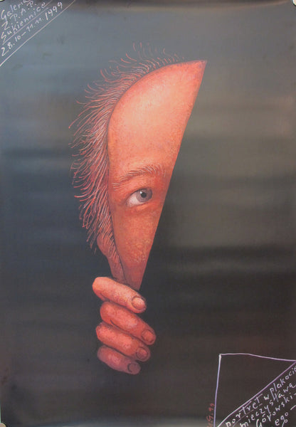 1999 Original Polish Exhibition Poster, Portrait in Poster - Gorowski