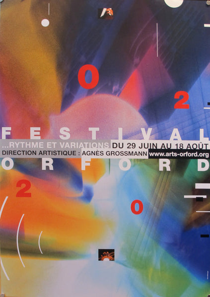 2002 Original Festival Orford Poster, Orford Music Festival - Pierre David