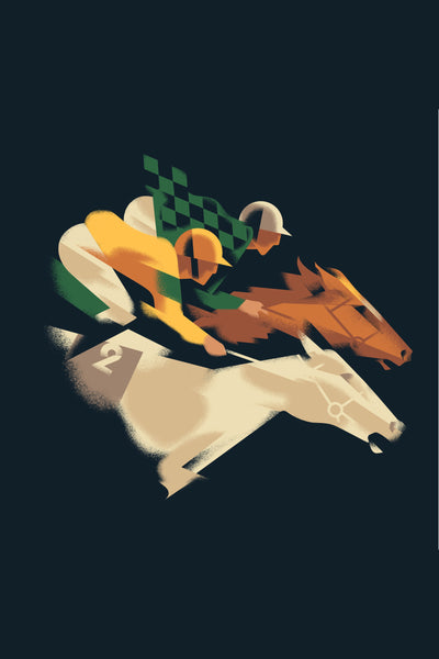 2017 Contemporary Danish Poster, Fitzdares Horse Race